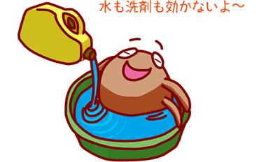ダニは水につけても洗剤につけても死なない。